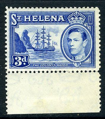 ST HELENA-1938-44 3d Ultramarine.  A lightly mounted mint example Sg 135