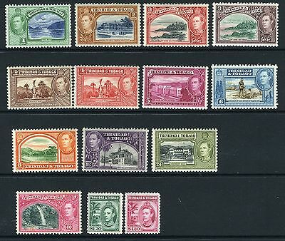 TRINIDAD & TOBAGO-1938-44  A mounted mint set to $4.80 Sg 246-256