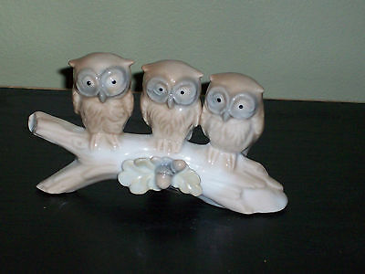 VINTAGE OTAGIRI OWL TRIO ON BRANCH Japan