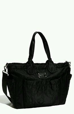 MARC BY MARC JACOBS Pretty Nylon Eliz-A-Baby Diaper Bag - Black - Pre owned