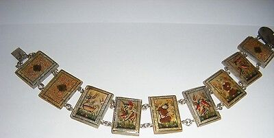 Antique Victorian Hand Made Mother of Pearl Chinese Panel Bracelet - No Reserve