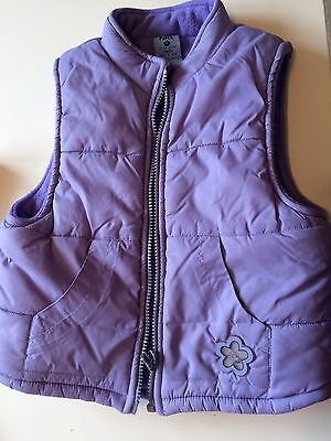 Girls Lilac Pumpkin Patch Padded Gilet Size 5 (to Fit 4-5 Years 115cms Height)