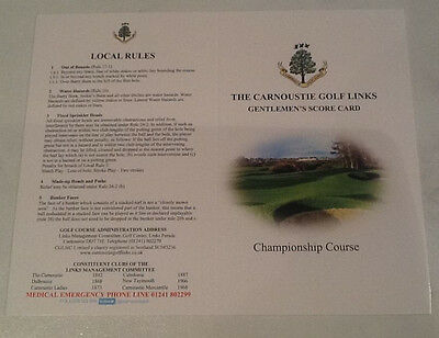 Three Score Cards from Carnoustie Golf Courses