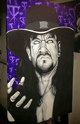 The Undertaker one off artwork wwe wwf