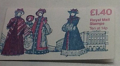 £1.40p Booklet Pane  1981 19th Century Costumes