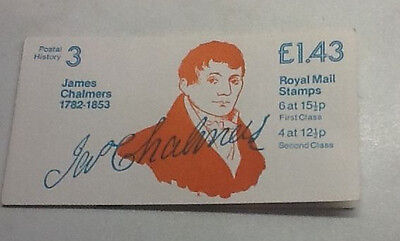 £1.43p Booklet Pane  1James Chalmers 1782-1853