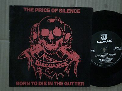 Vinile 45 giri DISCHARGE - THE PRICE OF SILENCE 1983 Vg+/Ex