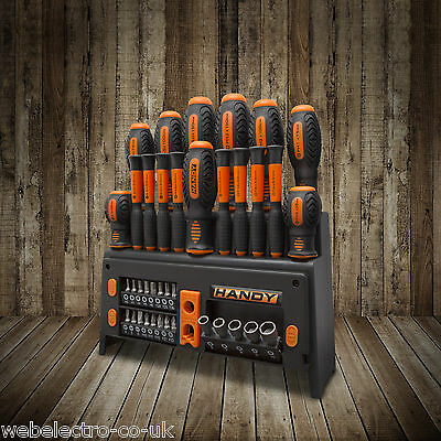 10741 39 Pcs Screwdriver Set with Storage Rack Built-in Bit Holders & Magnetizer