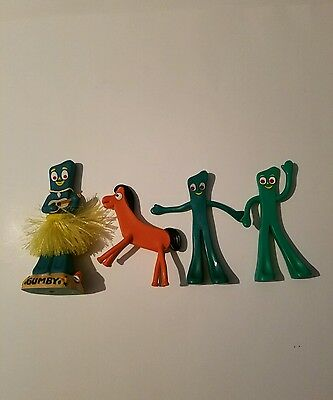 Lot of 4 Gumby toys