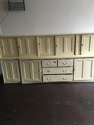 Very Large Antique Cupboard With Various Draws.