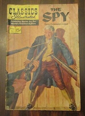 Classics Illustrated #51 September 1948 The Spy James Fenimore Cooper