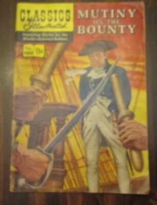 Classics Illustrated #100 October 1952 Mutiny On The Bounty
