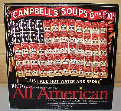 All American CAMPBELL'S SOUP Flag Puzzle by Ceaco 1000 Piece ~ New Sealed Box