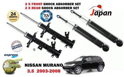 For Nissan Murano 3.5 2003-2008 2X Front + 2X Rear Shock Absorber Shocker Set