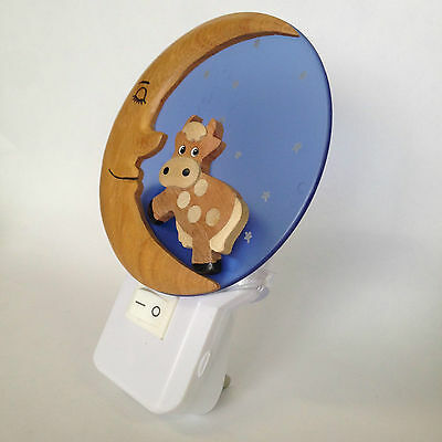 ***SPECIAL OFFER*** LED Children's Night Light Cow On Moon Design - UK Plug In