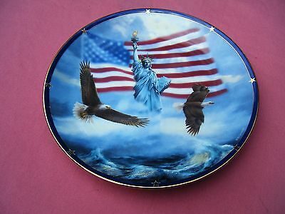 Danbury Mint Collector Plate - AMERICA STANDS PROUD by Rudi Reichart