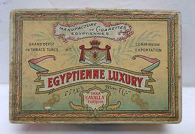 Vintage 1910 Egyptienne Luxury Cigarette Box with Tax Stamp!