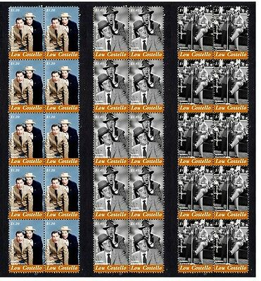 Lou Costello Comic Icon Set Of 3 Mint Stamp Strips 2