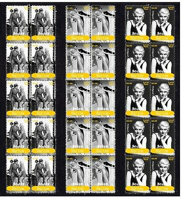 Jean Harlow Hollywood Icon Set Of 3 Mint Stamp Strips 2
