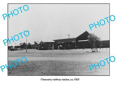 OLD LARGE PHOTO QLD, CLONCURRY RAILWAY STATION c1925