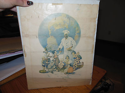 "Vintage Cream Of Wheat ""the Worlds Fare"" Print"