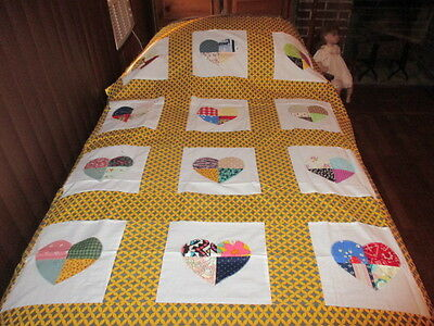 Country Heart   Quilt Top  New