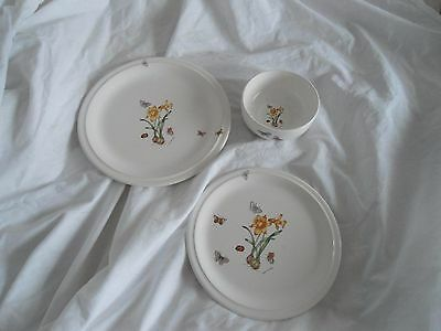 Runtons Pottery  Helen Philipps Floral Butterfly Trio 2