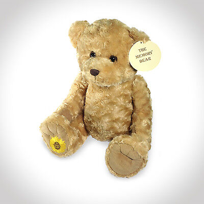 Memory Teddy Bear For Keepsakes Memorial Funeral Urn Cremation Ashes - Colourful