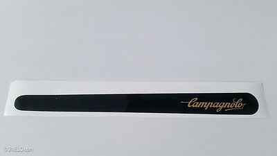 Chain guard decal - Campagnolo in Gold on Black vinyl