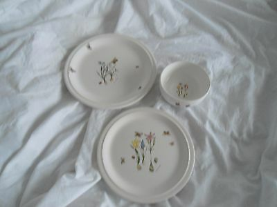 Runtons Pottery  Helen Philipps Floral Butterfly Trio 3
