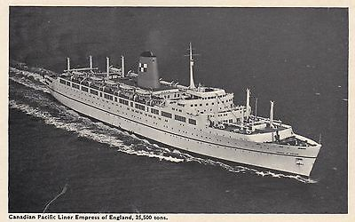 """Canada C1910 PC Canadian Pacific Liner """"Empress of England"""" Unused"""