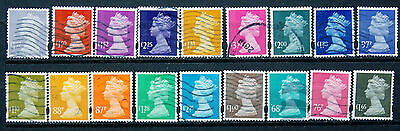 A Collection Of Different Good Used GB High Value Security Machin Definitives.