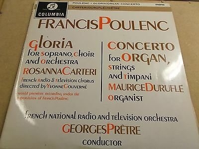 Francis Poulenc,gloria,rosanna Carteri,lp On Columbia,33Cx 1798,12961