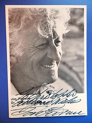 Jon Pertwee - Dr Who Actor - Excellent Original BBC B&W Signed Photo