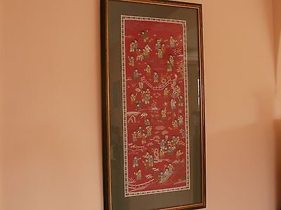 Beautiful Framed Chinese Emroidery Picture