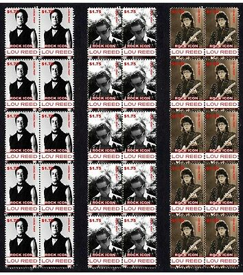 Lou Reed, The Velvet Underground Set Of 3 Mint Stamps 1