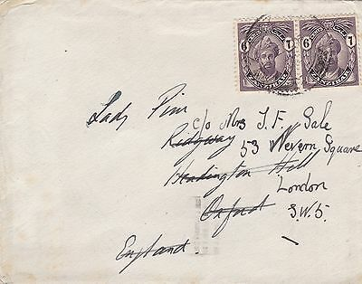 Zanzibar 1932 Cover to Oxford UK Redirected to London 12c Rate