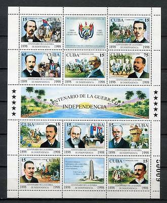 35494) .CU BA. Indipendence 1998 MNH** War heroes S/S