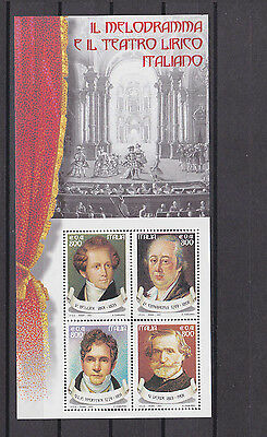 italy 2001 s/s MNH Sc 2386 opera composers.       f2429