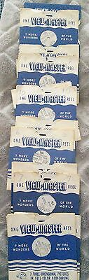 Lot of 16 Viewmaster Reels USA and Canada