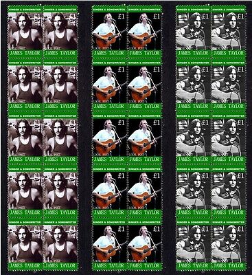 James Taylor Songwriter Set Of 3 Mint Stamp Strips 2
