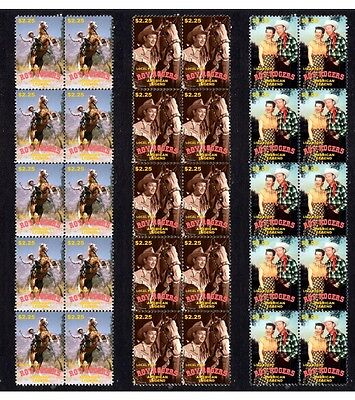 Roy Rogers 'famous Cowboy' Set Of 3 Mint Stamp Strips 2