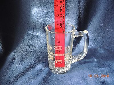 Standard Oil Etched Glass Mug