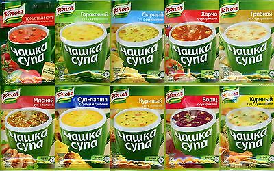 Knorr instant soup chicken, mushroom, cheese, etc.