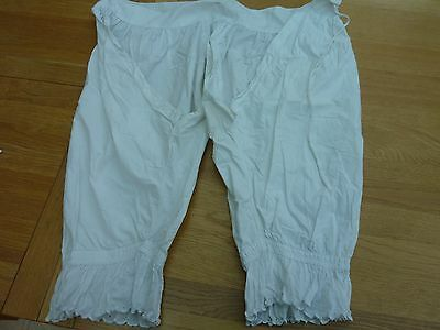 Original Victorian Ladies Cotton Bloomers Pantaloons - Waist Around 26 Inch
