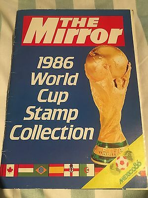 1986 World Cup Stamp Collection Book And Stamps The Mirror Football Rare Mint
