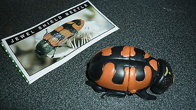 Colectable Australian Yowie Toy With Papers, Jewel Shield Beetle, Red