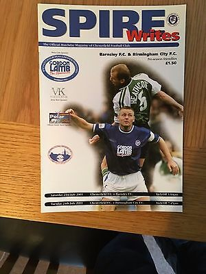 CHESTERFIELD v PETERBOROUGH 1.9.2001
