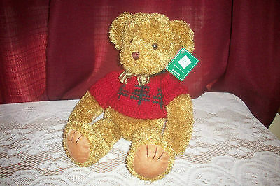 "RUSS BERRIE CHRISTMAS BEAR ""GLIMMERS"" ALL TAGS  13 in"