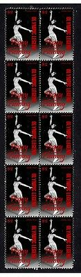 Peggy Fleming Figure Skating Strip Of 10 Mint Stamps 3